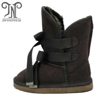 Popular Girls Kids Brown Leather Boots