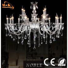 Lámpara de cristal de lujo de la sala de estar de la boda grande de lujo LED