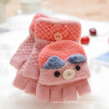 Großhandelskinder wärmen Bärn-Handschuh scherzt niedlichen Bären-Karikatur-Knit-Handschuh