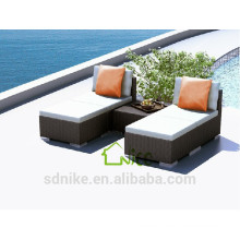 SL-(34) outdoor patio furniture PE rattan sofa cum bed/ sleeper sofa