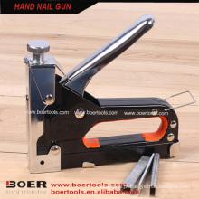Arma de grampo de mão resistente grampeador de pistola de pregos de metal manual