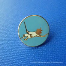 Ouro chapeado Pin macio da lapela do esmalte, emblema feito sob encomenda (GZHY-SE-036)