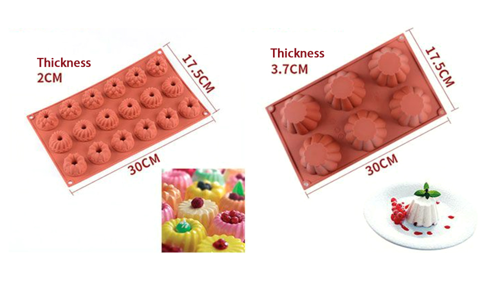 Flower Silicone Mousse Cake Mold (2)