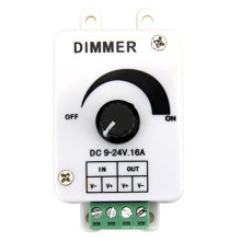 Hot sale DC9-24V 16A PWM Rotary Knob Dimmer Controller for Single Color LED Strip, LED Lights