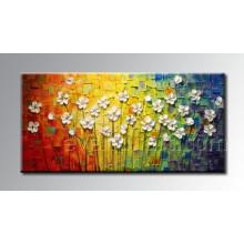 Nueva pintura al óleo moderna de la flor del estilo del cuchillo (KVF-011)