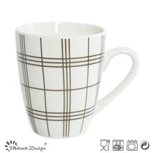 10oz Porcelain with Decal Checked Coffee Mug