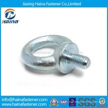 Hecho en China Zinc plateado de acero de carbono de los pernos de elevación del ojo
