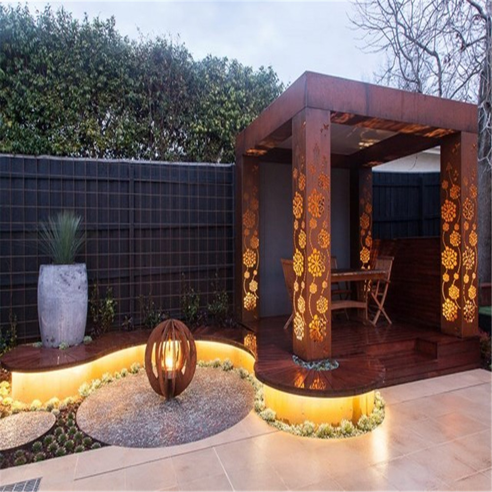 Metal Privacy Screen Corten steel