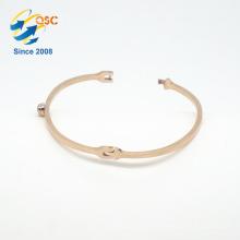Audit standard size handmade jewelry stainless steel gold cuff bangle bracelet