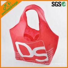 Fábrica personalizado promocional eco-friendly 210D nylon saco de compras sólido