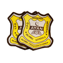 Iron on Custom Brand Name Logo Woven Patch and Badge for Clothing