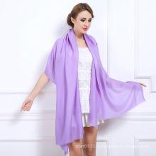 Женская мода сплошной Цвет Зимняя шерсть шаль (YKY4520)