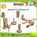 new design matador construction kit educational wooden wholesale toy from china