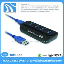 Adaptateur Hub USB à grande vitesse 4 ports USB Indicateur Led pour ordinateur PC