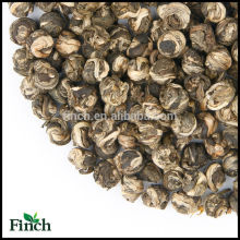 Venta caliente estándar de la UE Jasmine Dragon Pearl, té verde Jasmine Longzhu, bola de té de jazmín