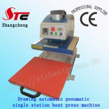 Zeichnung Pneumatische Digitale Wärmeübertragung Maschine 40 * 60 cm Zeichnung Pneumatische Einzelstation Wärmepresse Maschine Automatische T-Shirt Wärmeübertragung Maschine Stc-Qd08