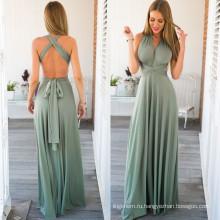Мода Леди Сексуальная Высокое Качество Платье Длинная Юбка Платье Одежда