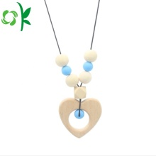 Mode Baby Silicone Bijtring Ketting Chew Bead