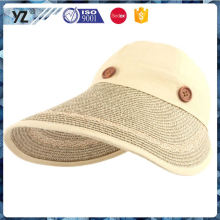 Factory direct sale attractive style bright sun visor cap wholesale made in china