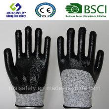Gant de travail de sécurité résistant à la coupe avec des gants de sécurité 3/4 nitrile