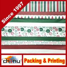 Papel de tecido de Natal impresso e sólido (510043)
