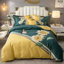 Wholesale Modern Design Bedding Set Cotton Fabric Comfortable for Single Bed Sheet Set