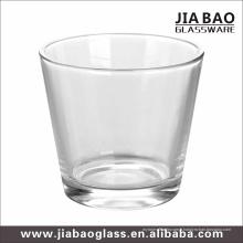 Coupe de bougie en verre clair avec 9 oz