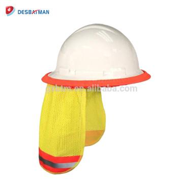 2018 Venta al por mayor de calidad superior Sombrero Sun Shade Reflective Neck Shield Protect casco respirable para los trabajadores de la construcción ferroviaria