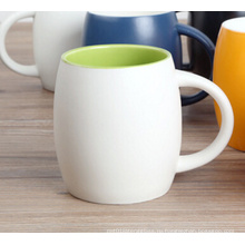 Экологичные цветастые керамические кружки с логотипом заказчика