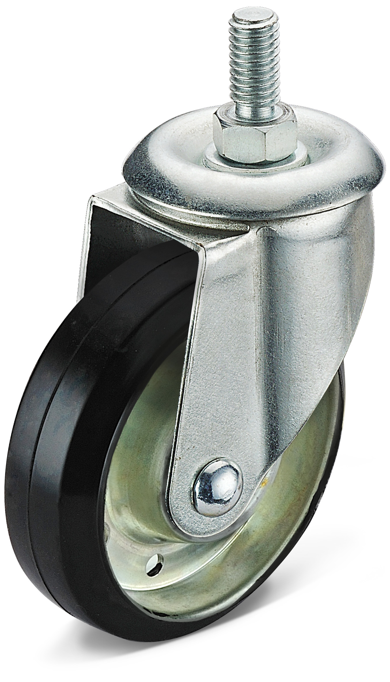 Black Rubber Screw Caster