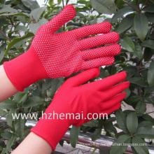 Gants en polyester colorés PVC Mini Dots Safety Work Glove