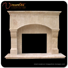 Contemporary Design Marble Natural Stone Fireplace Frame