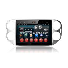 Kaier-usine, Quad core pleine touche android 4.4.2 voiture dvd pour VW Tiguan + OEM + 1024 * 600 + lien mirrior + TPMS