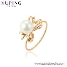 15460 xuping зарево способа 18k позолоченный имитация жемчужное кольцо конструкций для дамы