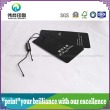 Luxury Paper Printing Hang Tag (Black, Plastic)
