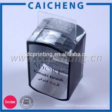 Boîte en plastique adaptée aux besoins du client d'emballage clair boîte de PVC avec le trou