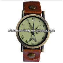 Leather Watchband Gold Plated Best Gift For Ladies Watch