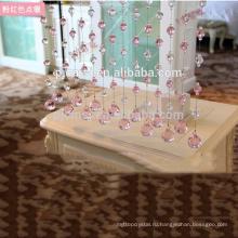 Горячая продажа розовый кристалл бусины занавес висит ромб для домашнего украшения Эко-дружественных