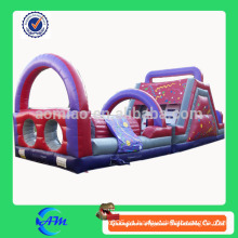 Color personalizado obstáculo inflable de alta calidad para adultos y niños