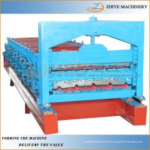 Chapa de acero de doble capa de zinc de la hoja de acero laminado máquina de producción