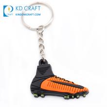High quality free sample custom soft pvc 3d mini brand sneaker keychain for decoration