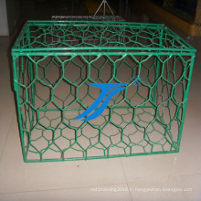 Boîte de maille de Gabion avec le PVC enduit, remblai, boîte de fil, boîte de maille, barries de fleuve