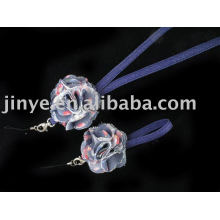 Jean Denim Lanyard with denim flower