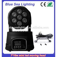 7x10w rgbw 4in1Led Mini Moving iluminação de palco indoor