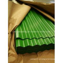 Folha de telhas de aço ondulada galvanizada PPGI