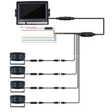 Pantalla de monitor de espejo de copia de seguridad HD