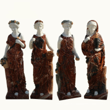 traditional western decoration natural stone garden four seasons marble statues