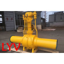 Pneumatic Control Valve Flanged Stainless Steel Fully Welded Ball Valve