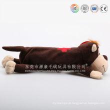 Soft animal forma saco de pelúcia brinquedo caixa de lápis ICTI Audited plush factory