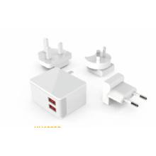 US EU UK AU Socket USB Travel Charger, 2 Port 4.8A USB Ladegerät, Fast Ladestation